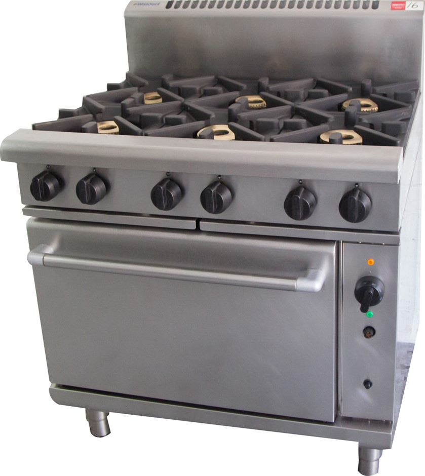 Waldorf Gas 6 Burner Stove with Fan Forced Convection Oven Under