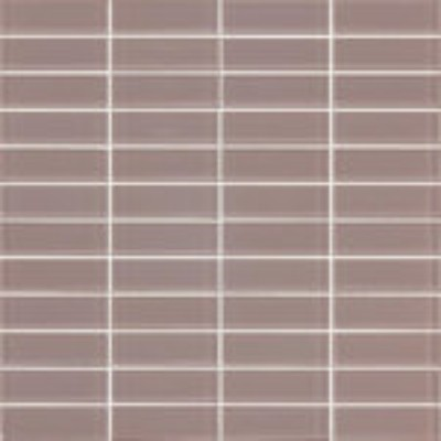 Cotto 06T-GL-7002 Taupe Glass Mosaic Tiles 22x73mm On Sheets, 4.6m², 75Kg