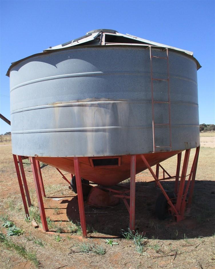 Galvanised Iron Mobile Grain Silo