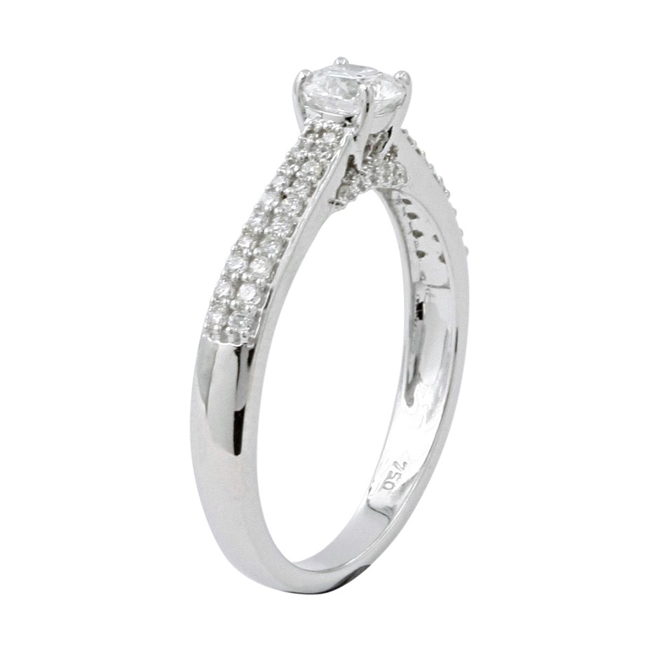 18ct White Gold, 0.64ct Diamond Engagement Ring