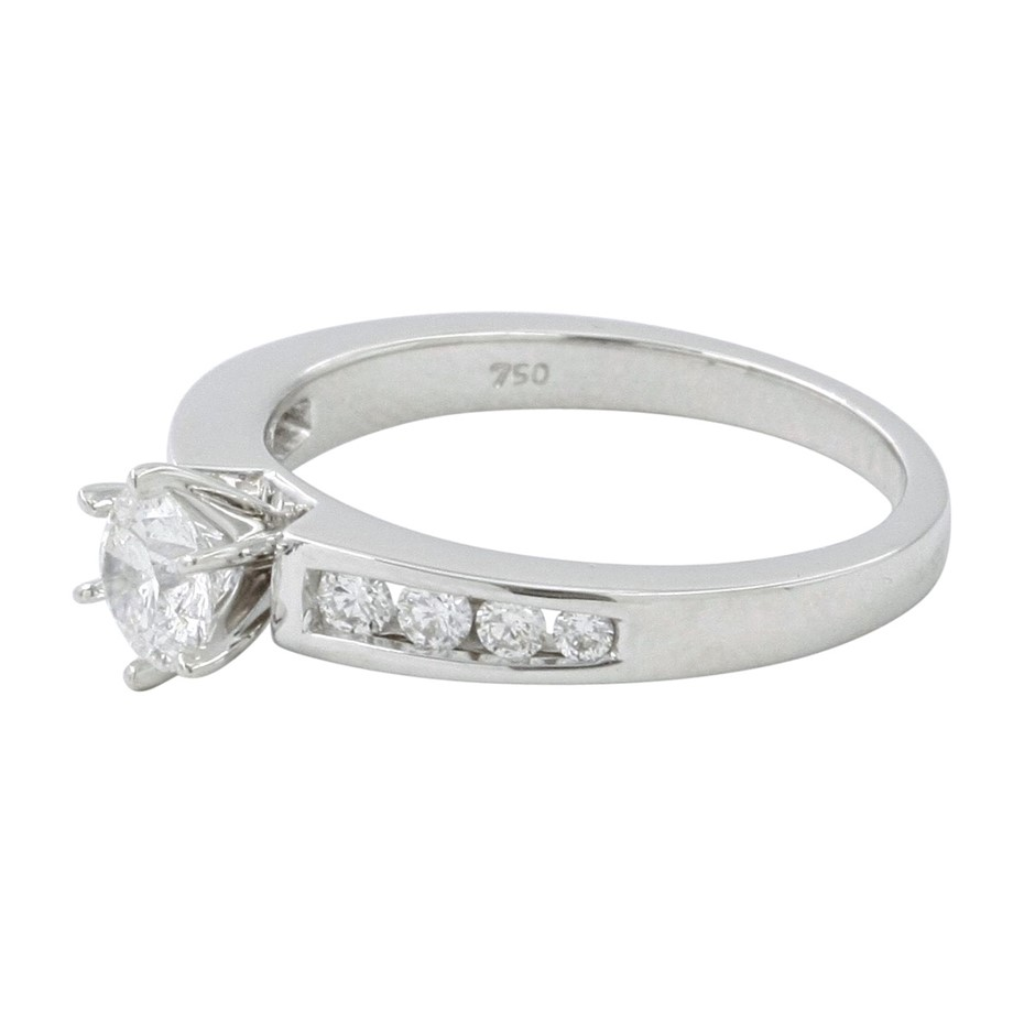 18ct White Gold, 0.97ct Diamond Engagement Ring