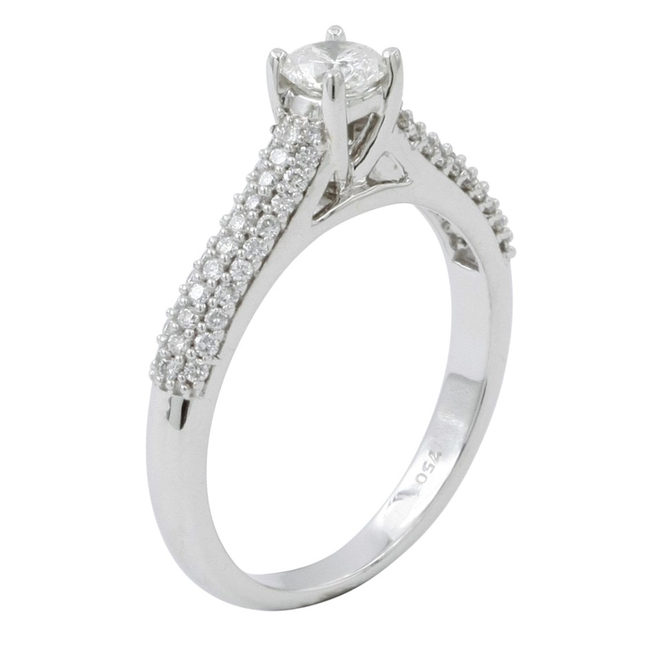 18ct White Gold, 0.70ct Diamond Engagement Ring