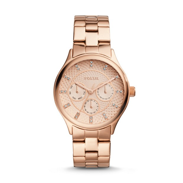 Stylish new Fossil Modern Sophisticated gold tone ladies watch.