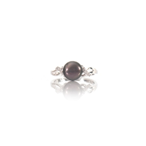 Natural Freshwater Black Pearl & Cubic Z