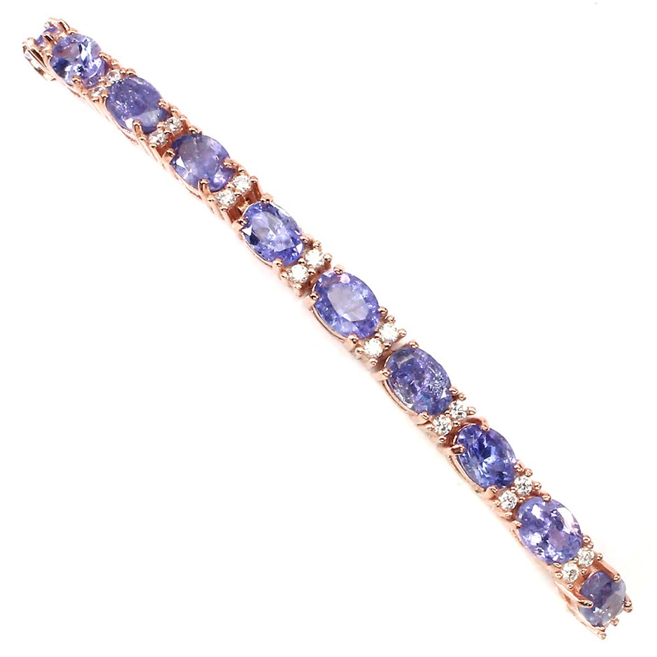 Gorgeous Genuine Tanzanite Tennis Bracelet