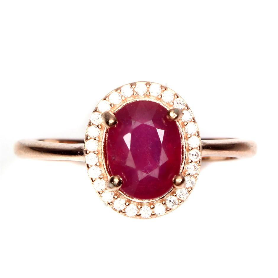 Delightful Genuine Ruby Ring.