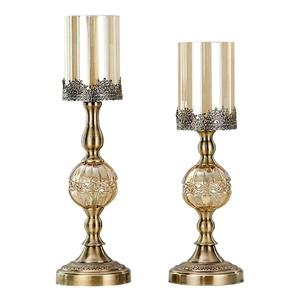 SOGA 42cm 48cm Glass Candle Holder Candl