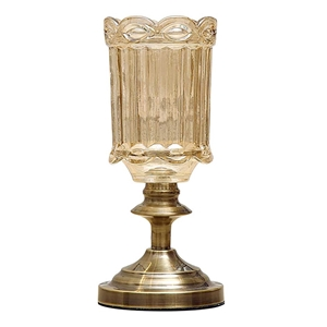 SOGA 28.5cm Transparent Glass Flower Vas