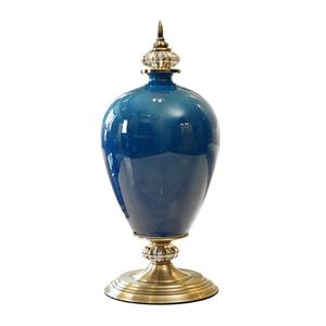 SOGA 42.50cm Ceramic Oval Flower Vase wi