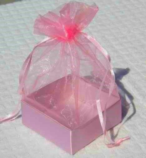 Organza Gift Box Hot Pink