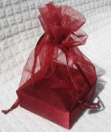 Organza Gift Box Red