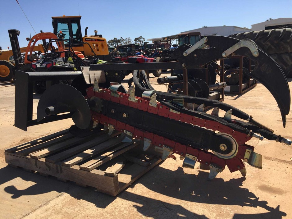 Skid Steer Chain Trenching Attachment