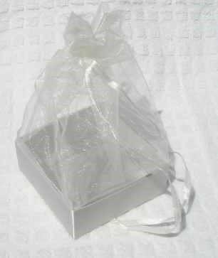 Organza Gift Box White