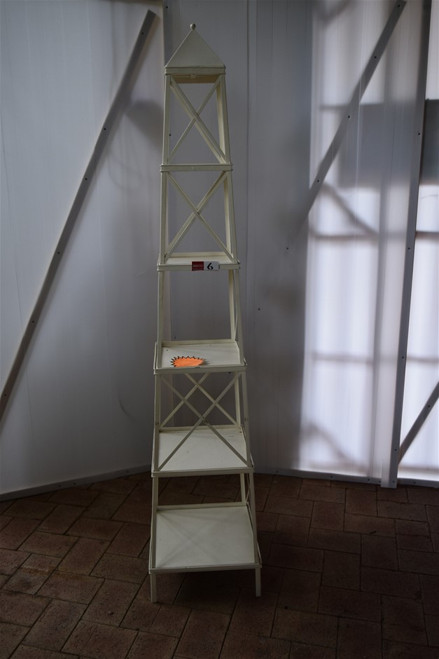 Steel Framed Pyramid Display Stand