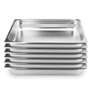 SOGA 6 x Gastronorm GN Pan Full Size 1/1 GN 100mm Deep Stainless Steel Tray
