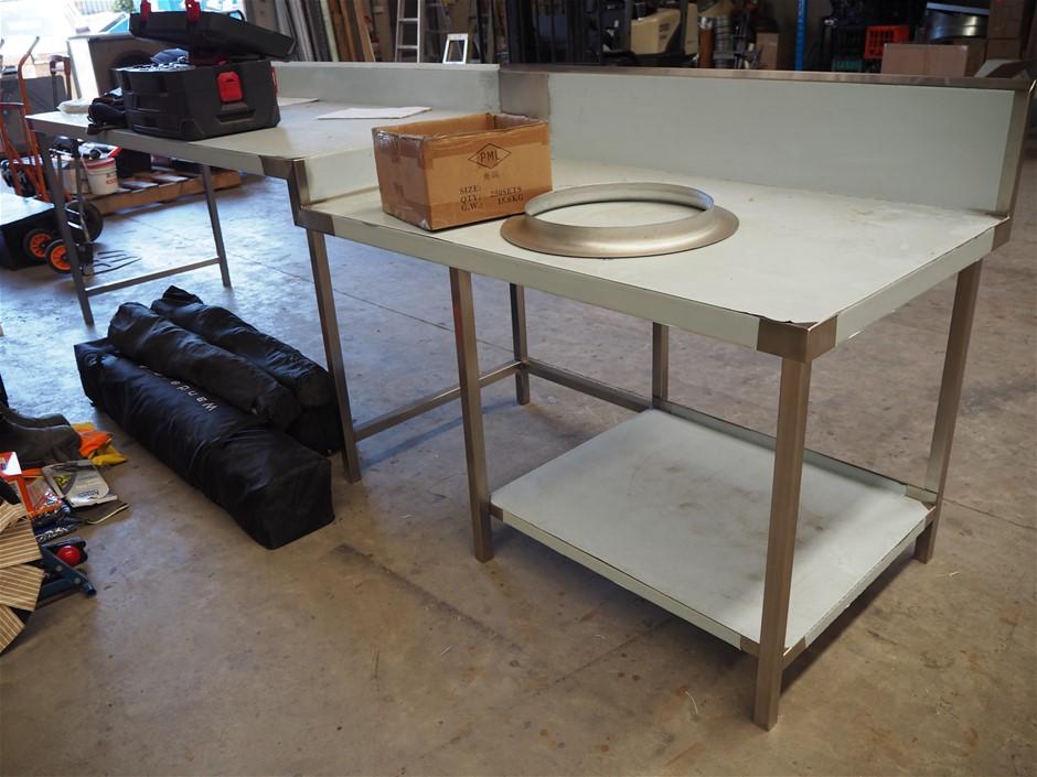 Purpose Built Stainless Steel Bench - Split Level