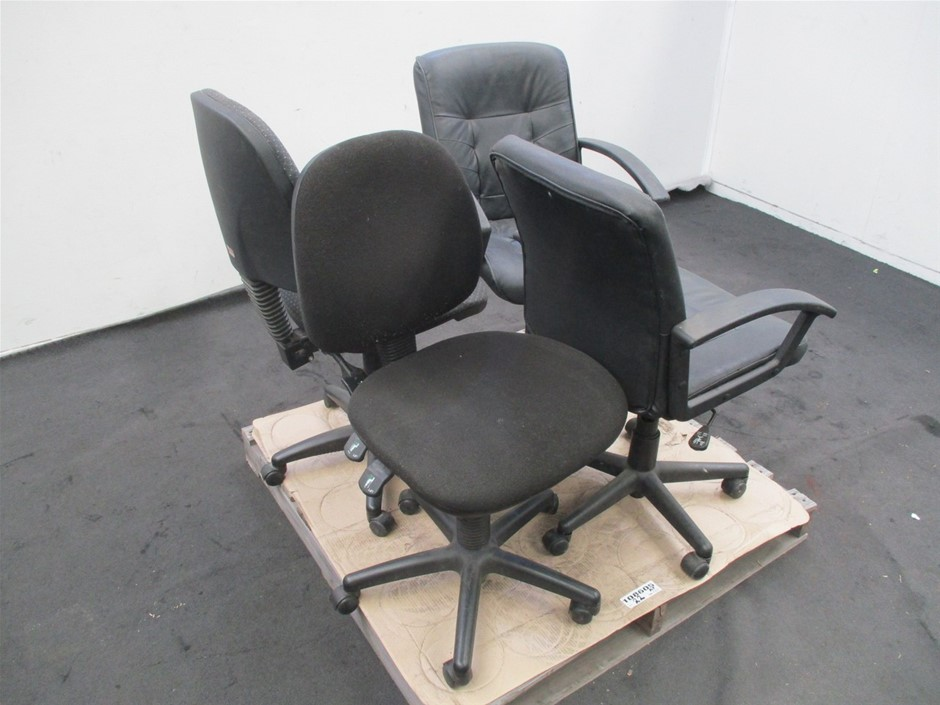 Qty 4 x Various Clerical Chairs
