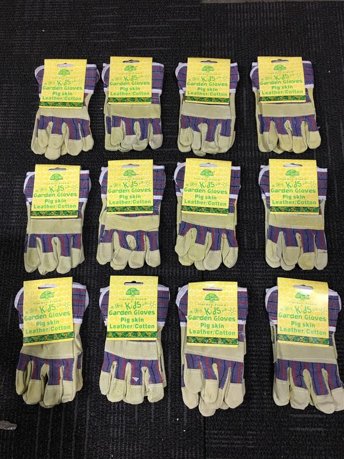 Bulk Lot of 12 Kids Garden Gloves