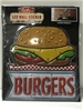 BURGERS - LED Wall Light Up Sticker Sign / Lamp