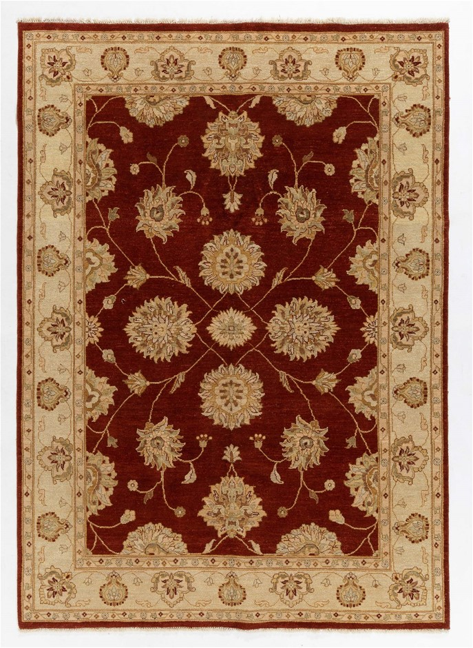 Afghan Hezari Hand Knotted 100% Wool pile Size (cm): 170 x 260