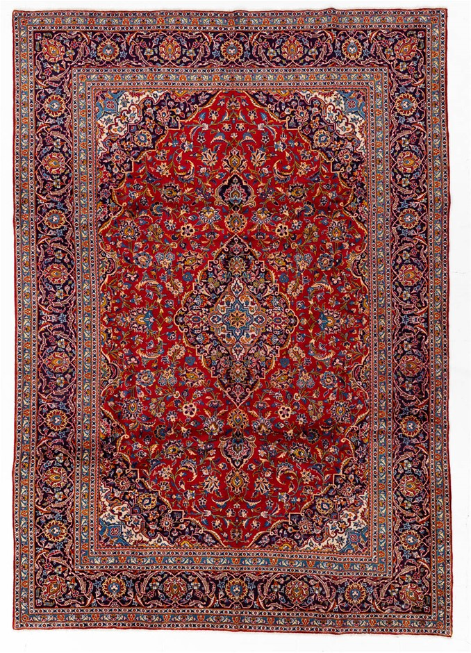 Persian Kashan Hand Knotted 100% Wool Pile Size (cm): 255 x 365