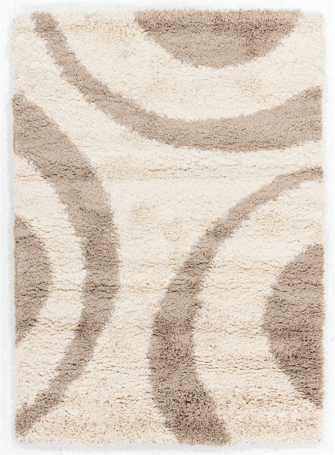 Machine Made Shaggy Pile Floor Rug - Size (cm): 160 x 230