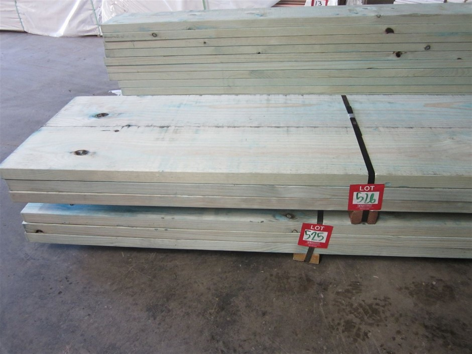 Pack of 6 lengths of 290mm x 45mm T2 Treated Pine