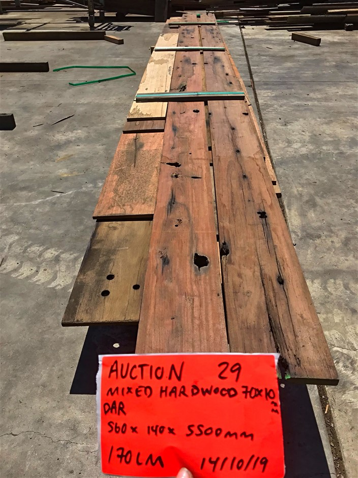 Mixed Hardwood Timber - Miscellaneous Sizes - 170LM