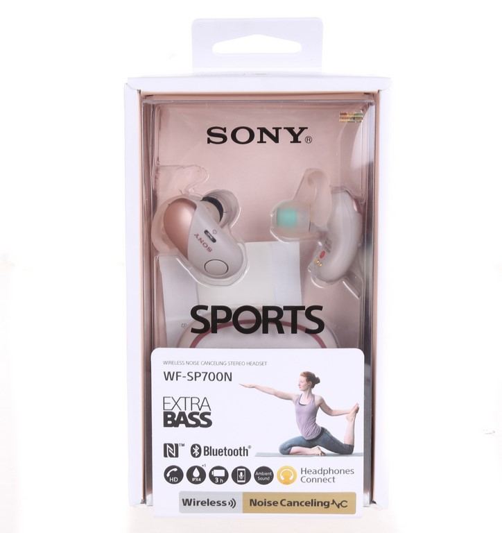 SONY Sports Wireless Noise Cancelling Stereo Headphones with Extra Bass, WF