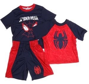 MARVEL SPIDERMAN 3pc Boy`s Short & T-Shi