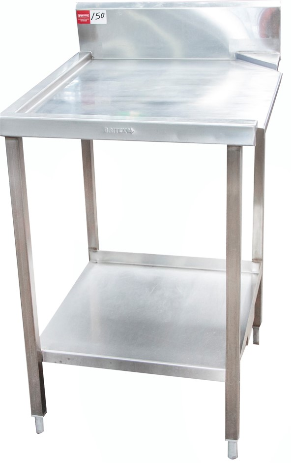 Stainless Steel Dishwasher Inlet and Outlet Bench
