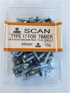 2 X Pack Hex screws for timber with seal