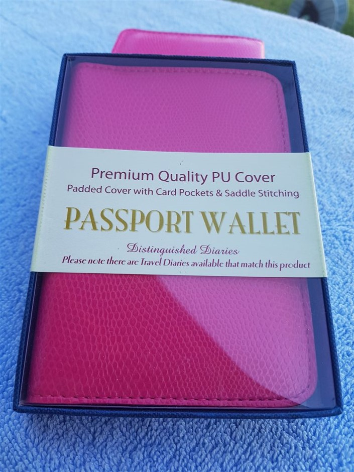 8 X Passport wallet, premium quality PU cover, padded cover with card p