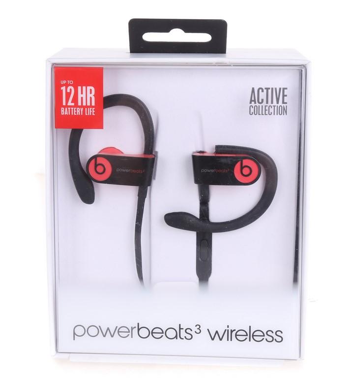 BEATS BY DR. DRE Powerbeats 3 Wireless Earphones, Red. N.B. Has been used.