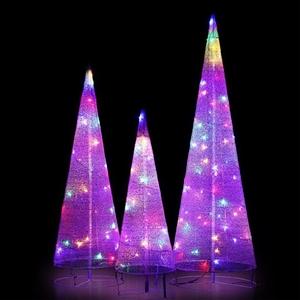 Christmas Motif Lights Foldable Cone Set