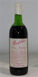 Penfolds `Grange` Shiraz 1969 (1x 750mL), SA. Cork closure.