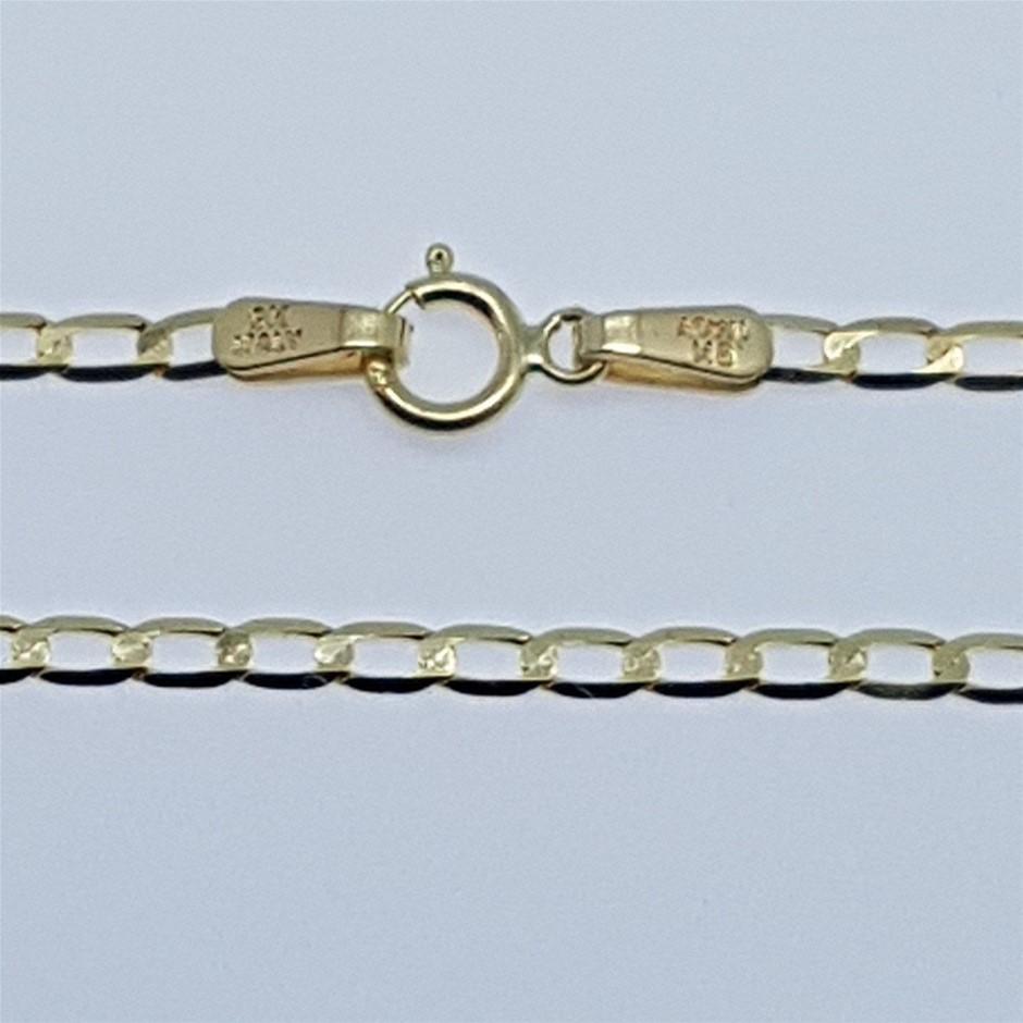 Genuine Italian Solid 9 Karat yellow Gold 50 cm chain necklace