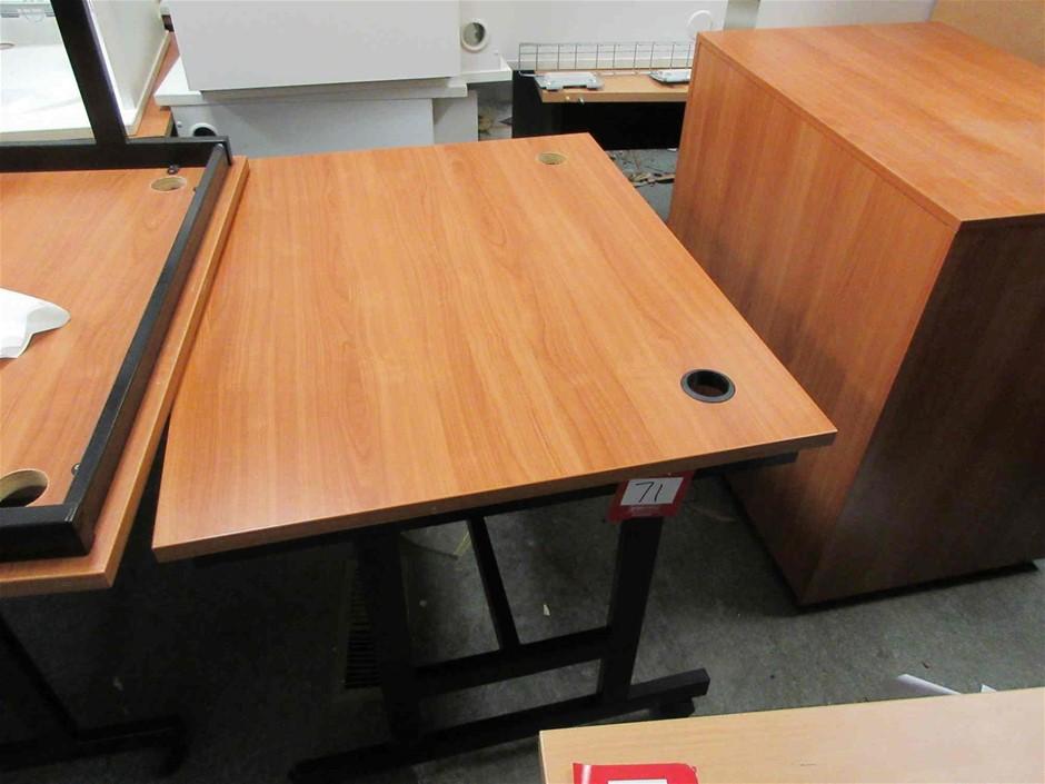 2x Mobile Metal Frame Timber Laminate