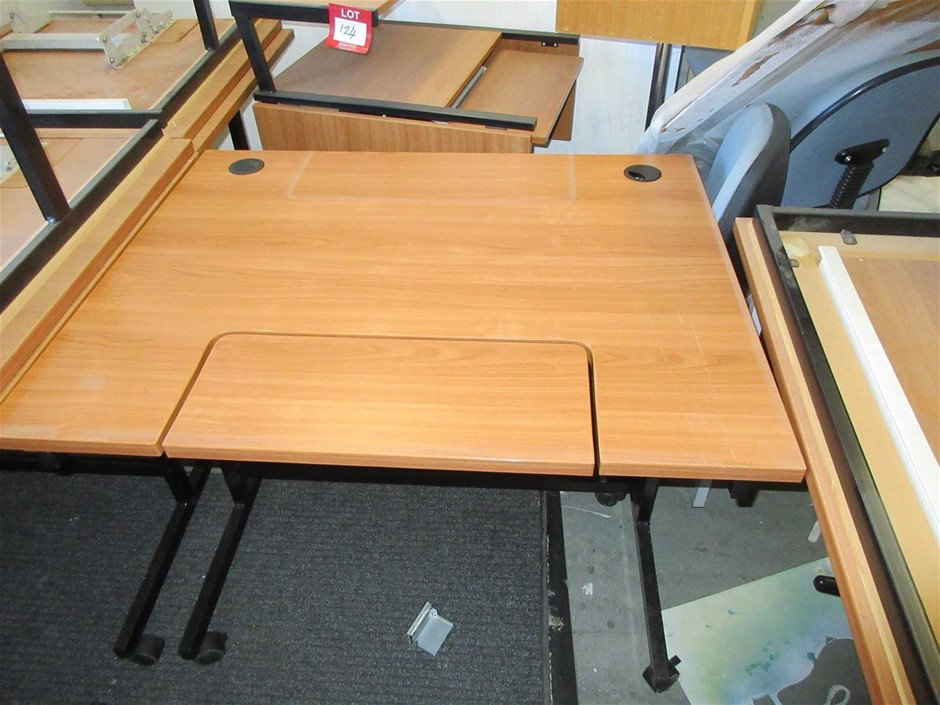 2x Mobile Timber Laminate Computer Desks 1000 x 800