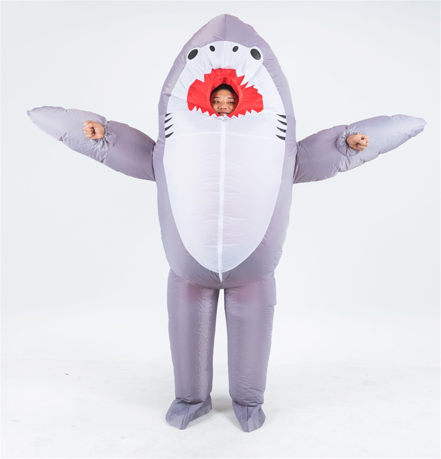 Shark Fancy Dress Fan Inflatable Costume Suit