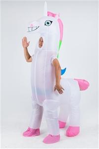 Giant Unicorn Fancy Dress Fan Inflatable