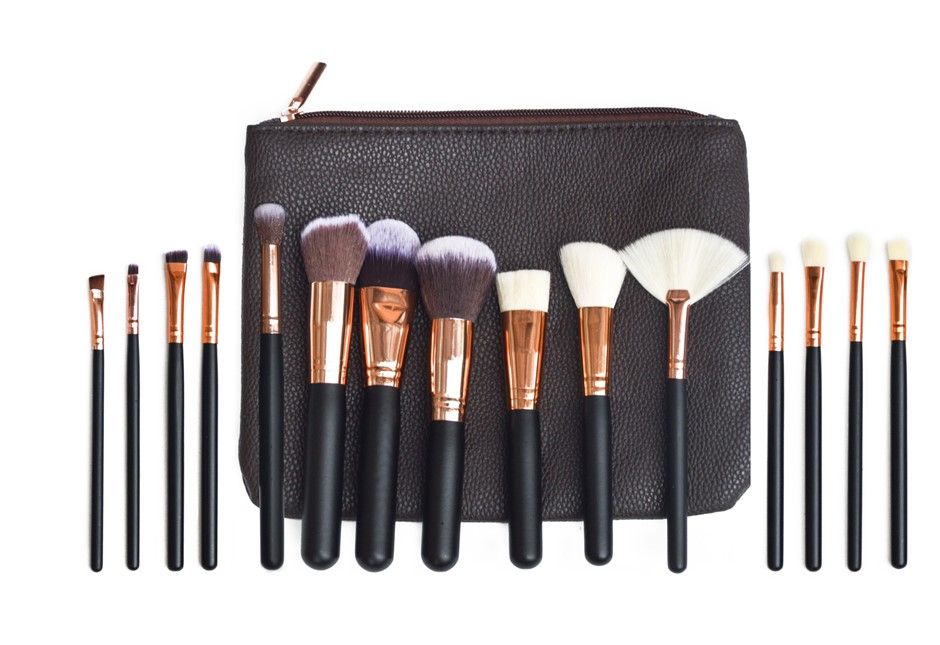 Soft15Pcs Pro Face Powder Makeup Brushes Set Eyeshader Blending Tools