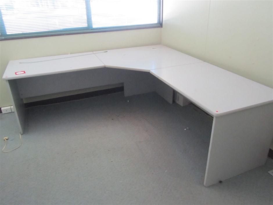 Corner Desk (2250 x 2250mm) and Bookcase