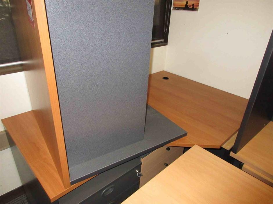 Corner Desk With Pedestal