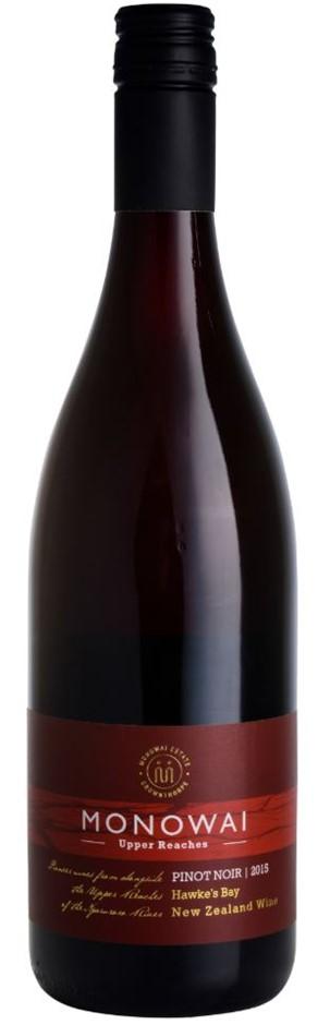 Upper Reaches Pinot Noir 2015 (6 x 750mL) Hawkes Bay, NZ