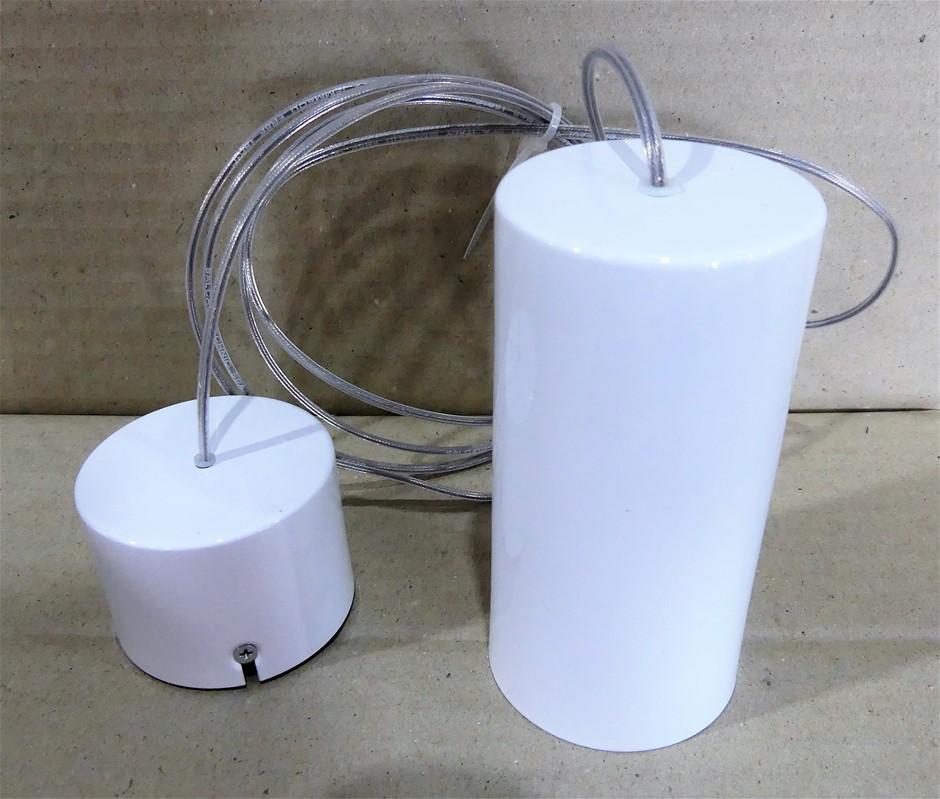 4 x Exenia Lighting Aladino Suspension Bianco L. , Art. 304 50 40 40
