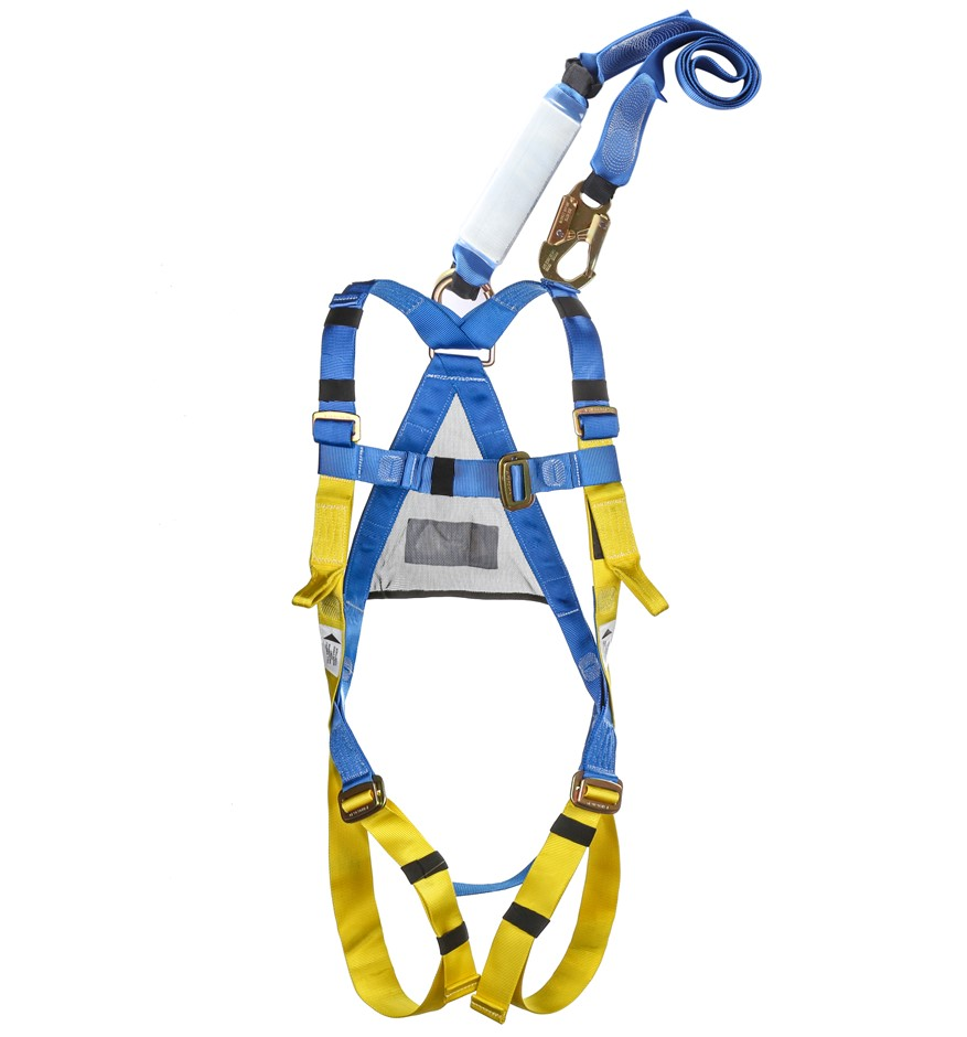 LIFT SAFE Full Body Safety Harness c/w 2M Shock Absorbing Lanyard, Exp: 6/2