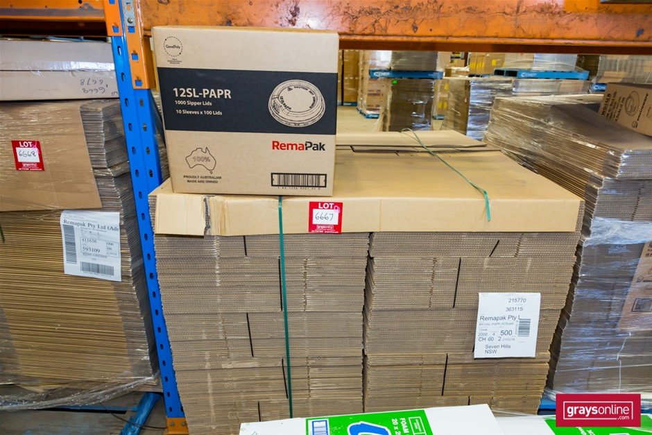 Pallet of Cardboard Cartons, Flat Packed Auction (6667 ...