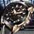 LIGE Men Casual Leather Military & Sport Quartz Chronograph Wrist Watch