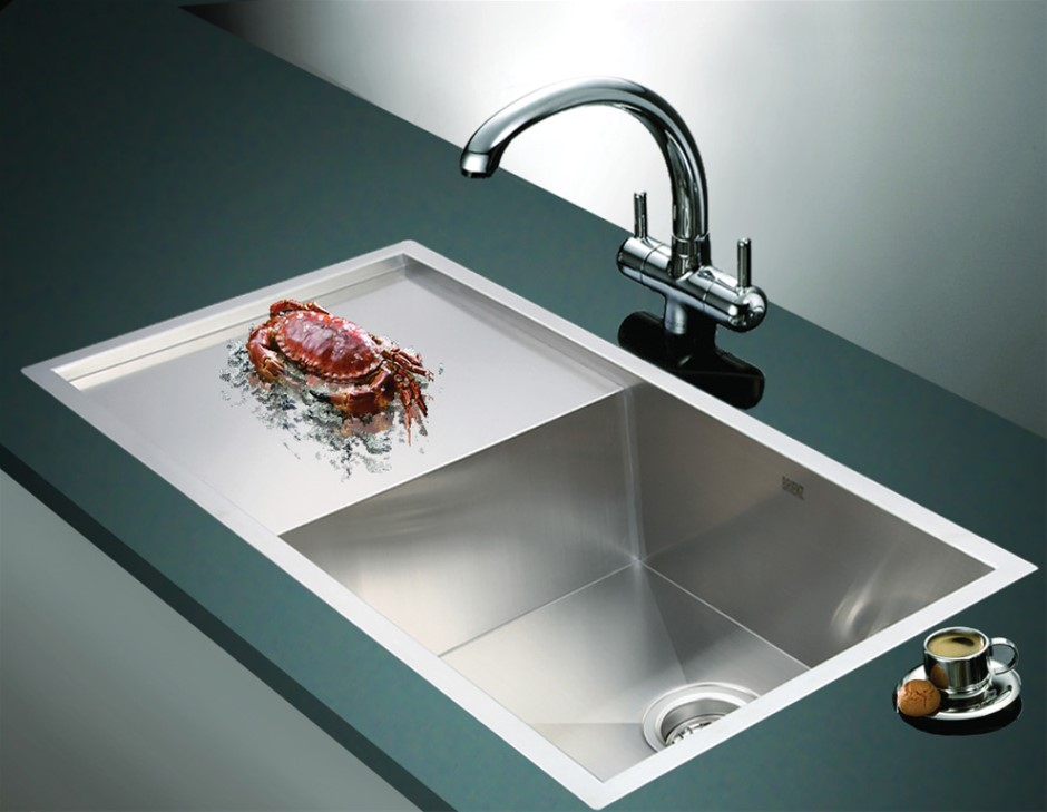 960x450mm Handmade Stainless Steel Kitchen Sink with Waste